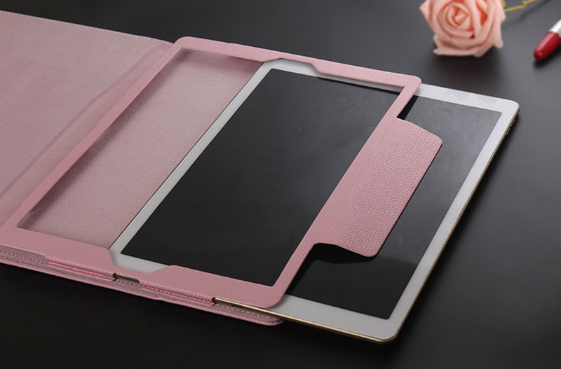 Leather Pink Bluetooth iPad Air Mini Pro Separate Keyboard With Case IPCK05_6