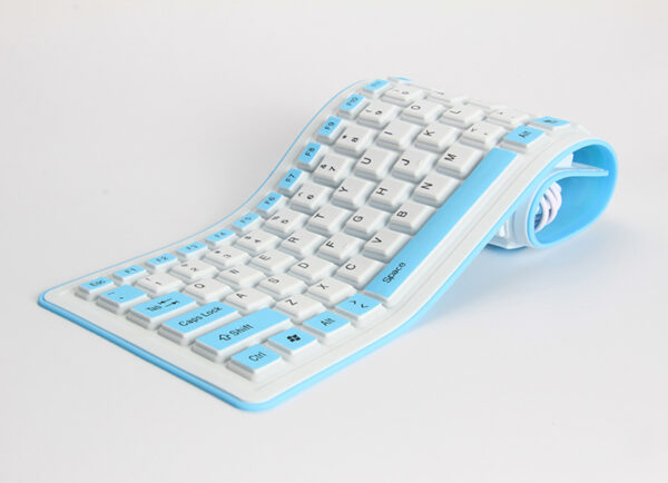 Silicone Portable Folding USB Waterproof Keyboard For Surface Macbook PKB03_6