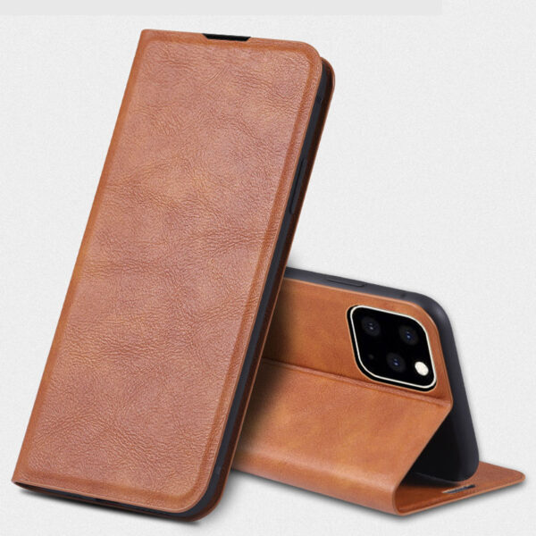 Best Leather iPhone 11 Pro Max Case With Card Slot IPS507_4