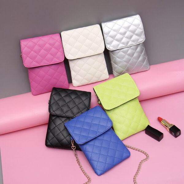Best Mini Messenger Bag 2 Layer Cellphone Wallets PW04_3