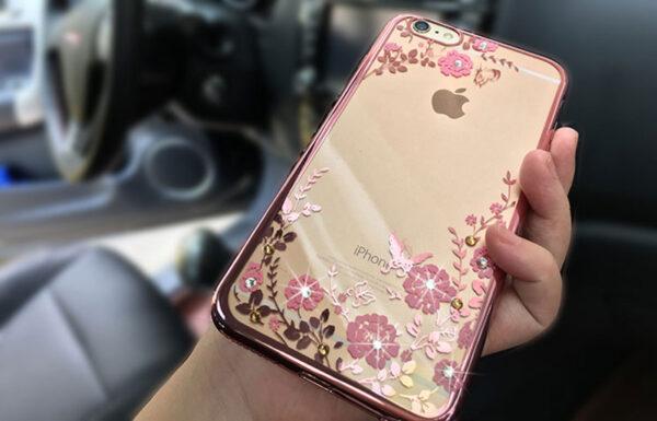 Diamond iPhone SE iPhone 8 7 6 6S Plus 5S Luxury Protective Silicone Sleeve Case IPS506_2