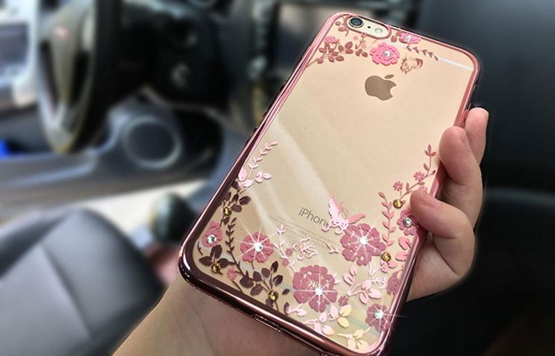 Diamond iPhone SE iPhone 6 6S Plus 5S Luxury Protective Silicone Sleeve Cases IPS506_2