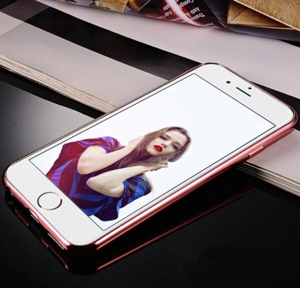 Diamond iPhone SE iPhone 8 7 6 6S Plus 5S Luxury Protective Silicone Sleeve Case IPS506_3