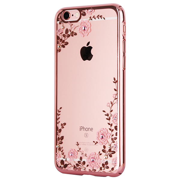 Diamond iPhone SE iPhone 8 7 6 6S Plus 5S Luxury Protective Silicone Sleeve Case IPS506_4