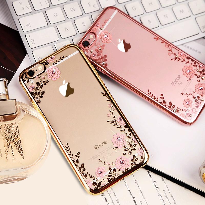 Diamond iPhone SE iPhone 6 6S Plus 5S Luxury Protective Silicone Sleeve Cases IPS506_5