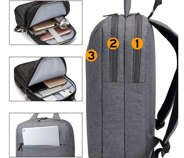 Minimalism Business Laptop Computer Square Backpack Leisure Bag MFB03_3