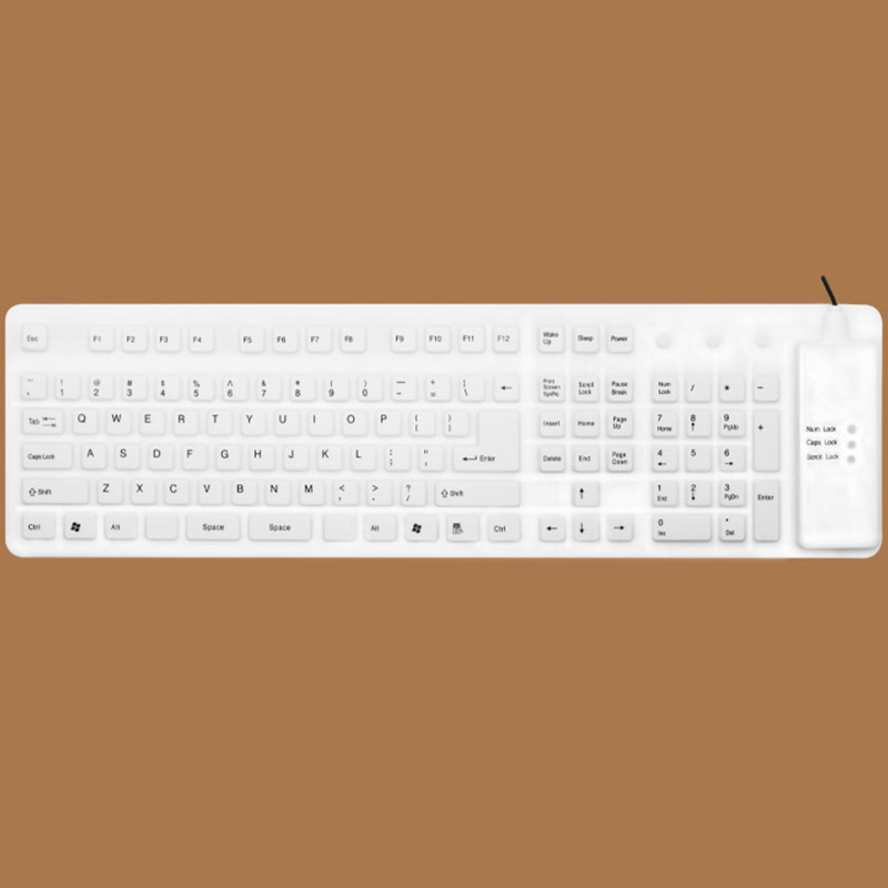 Foldable Silicone USB Keyboard For Surface Book Macbook Air Pro PKB04_2