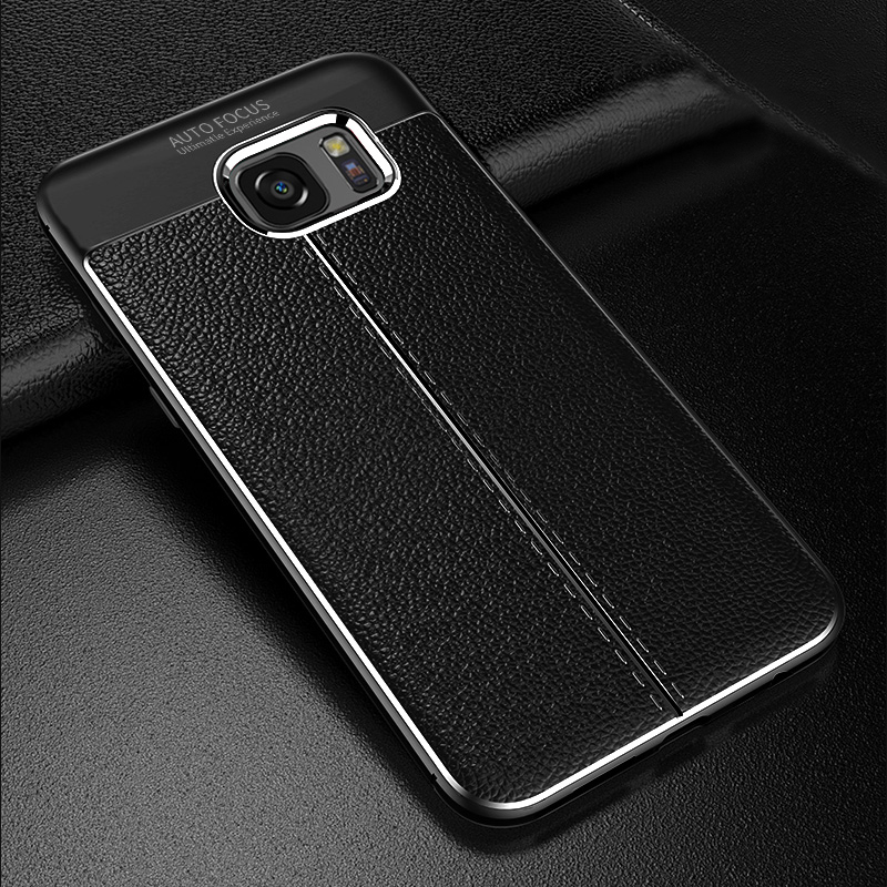 Perfect Leather Feel Silicone Case Cover For Samsung S7 And Edge SG706