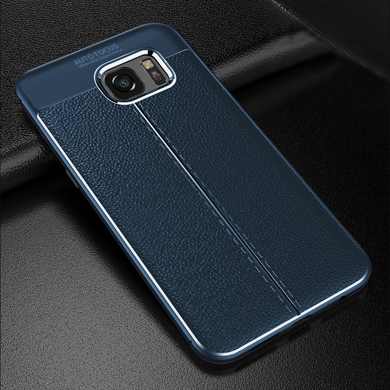 Perfect Leather Feel Silicone Case Cover For Samsung S7 And Edge SG706_2