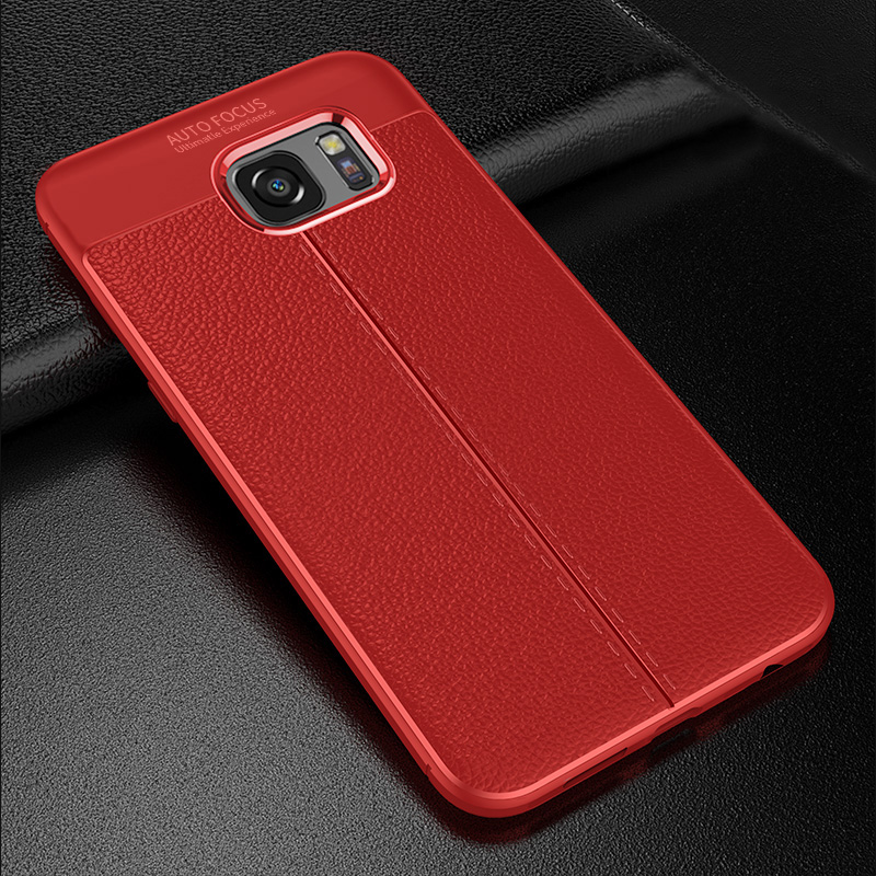 Perfect Leather Feel Silicone Case Cover For Samsung S7 And Edge SG706_3