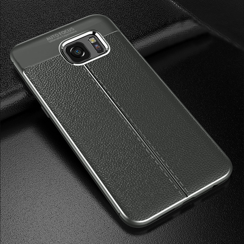 Perfect Leather Feel Silicone Case Cover For Samsung S7 And Edge SG706_4