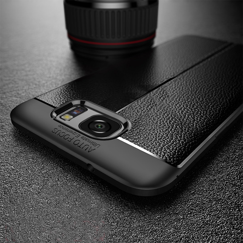 Perfect Leather Feel Silicone Case Cover For Samsung S7 And Edge SG706_6