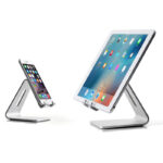 Silver Aluminum Lazy Bracket Stand For iPhone iPad Mini Air Pro IPS05