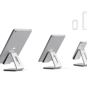 Silver Aluminum Lazy Bracket Stand For iPhone iPad Mini Air Pro IPS05_2