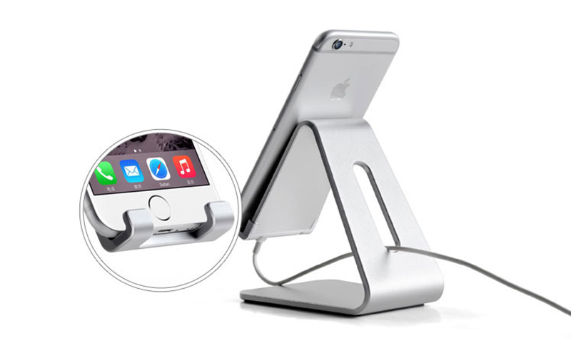 Silver Aluminum Lazy Bracket Stand For iPhone iPad Mini Air Pro IPS05_4