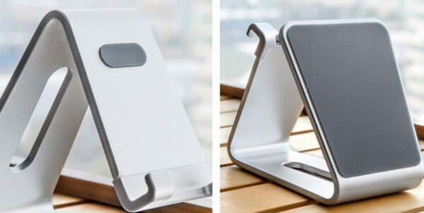 Silver Aluminum Lazy Bracket Stand For iPhone iPad Mini Air Pro IPS05_5