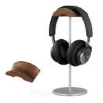 Universal Aluminum Alloy Headphone Holder Stand With Wood Hanger BTE05