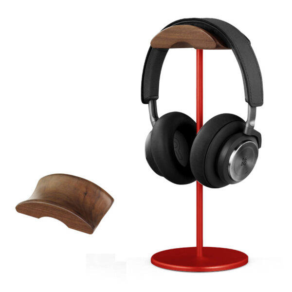 Universal Aluminum Alloy Headphone Holder Stand With Wood Hanger BTE05_5