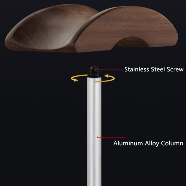 Universal Aluminum Alloy Headphone Holder Stand With Wood Hanger BTE05_7