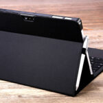 Black Leather Surface Pro 3 4 5 6 Leather Cover Case With Pen Cap SPC06