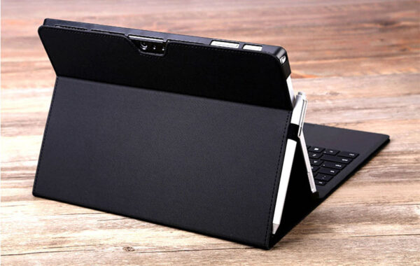 Black Leather Surface 3 Pro 3 4 5 6 Leather Cover Case With Pen Cap SPC06