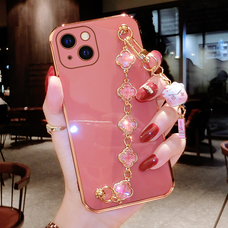 new product 48375 d61e7 Perfect Diamond iPhone 8 7 6 6S Plus Case With Heart-shaped buckle And  Lanyard IP6S13