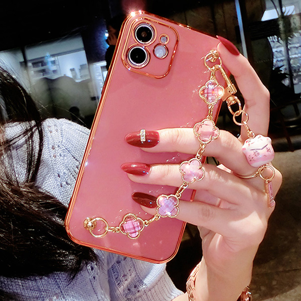 Perfect Diamond iPhone 8 7 6 6S Plus Case With Heart-shaped buckle And Lanyard IP6S13_3