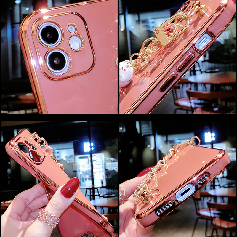 Perfect Diamond iPhone 8 7 6 6S Plus Case With Heart-shaped buckle And Lanyard IP6S13_7