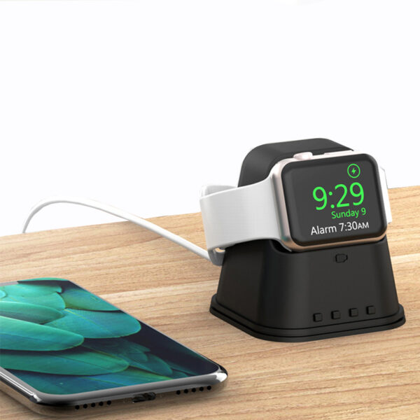 Portable iWatch Charger Stand Dock Bottom Put USB Cable AWB06_5