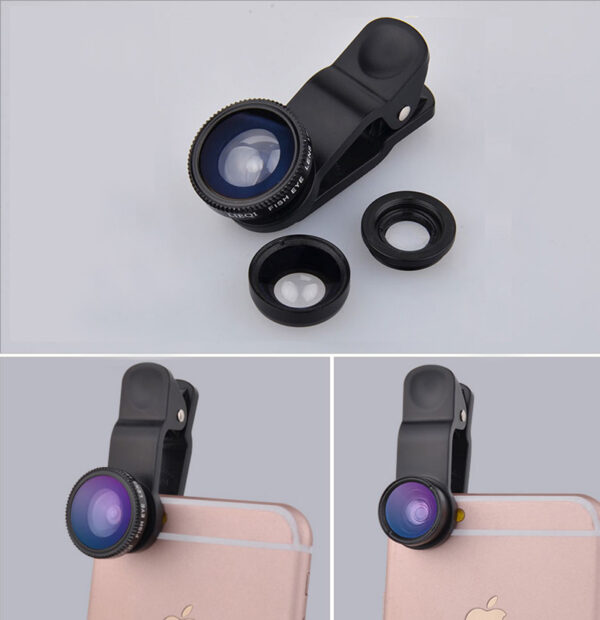 Best Universal Phone External Camera With Wide Macro Fisheye Lens PHE04