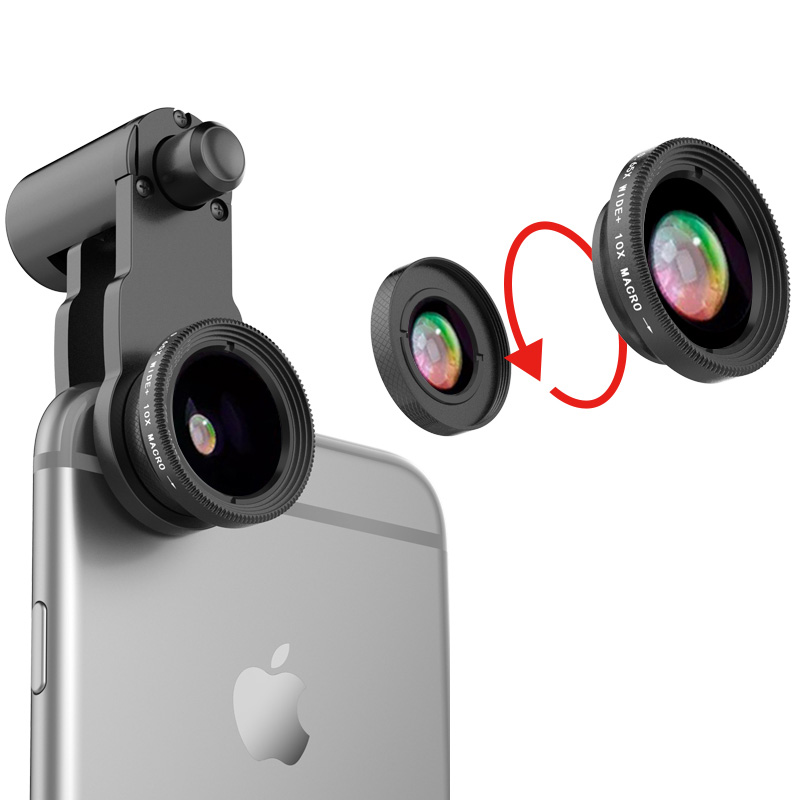 Samsung iPhone Wide Macro Fisheye Angle Lens Universal External Camera PHE03