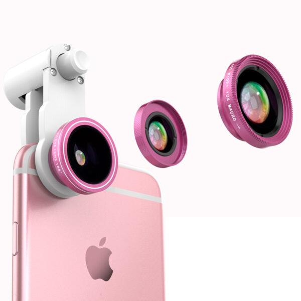 Samsung iPhone Wide Macro Fisheye Angle Lens Universal External Camera PHE03_4