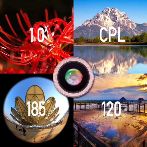 Samsung iPhone Wide Macro Fisheye Angle Lens Universal External Camera PHE03_7