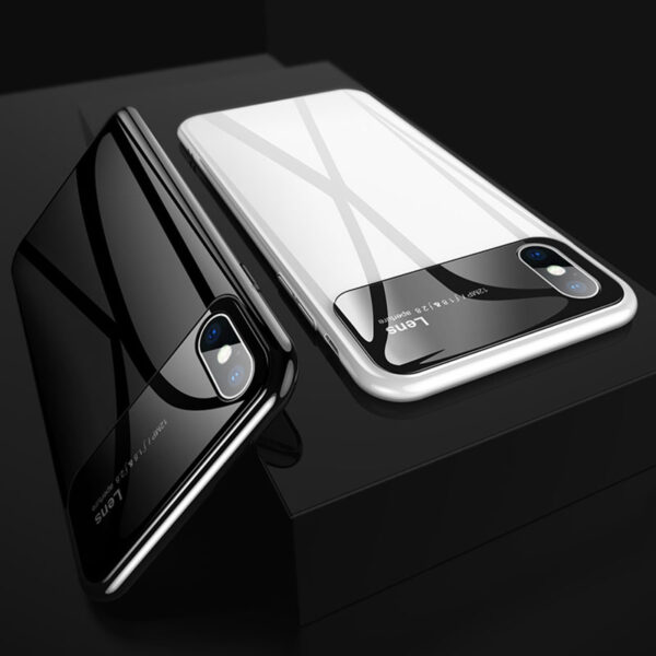 Creative Stereo Glass Head Silicone Case For iPhone 7 8 X Max IPS701_7