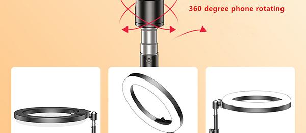 External Fill Light LED Lamp Lens For Phone Selfie Stick PHE05_4
