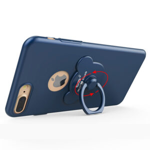 Perfect Blue iPhone X 8 7 6 And Plus With Bear Shape Buckle IPS702_4