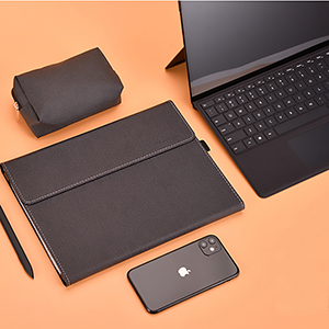 Brown Leather Surface Pro 5 4 3 Book Leather Bags Covers SPC07