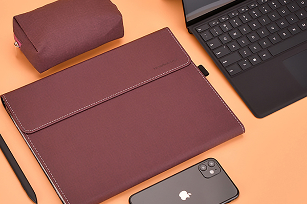 Brown Leather Surface Pro 6 5 4 3 Book Leather Bags Cover SPC07_4