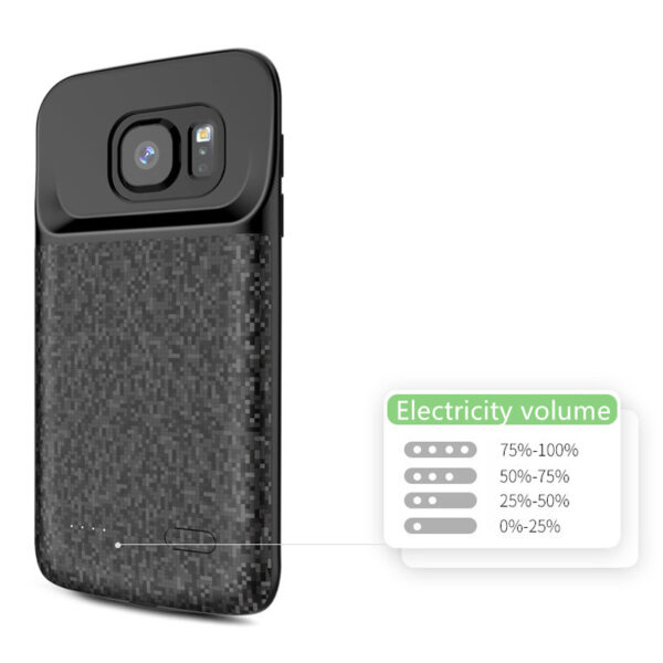 Perfect Black Samsung S7 And Edge Charge Case Cover IPGC07_7