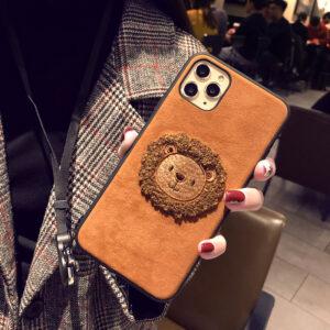 Handmade Plush Lion Case For iPhone 12 11 XS Max 8 7 Plus Case IPS708