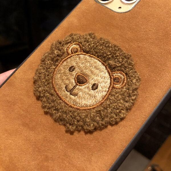 Handmade Plush Lion Case For iPhone 12 11 XS Max 8 7 Plus Case IPS708_5