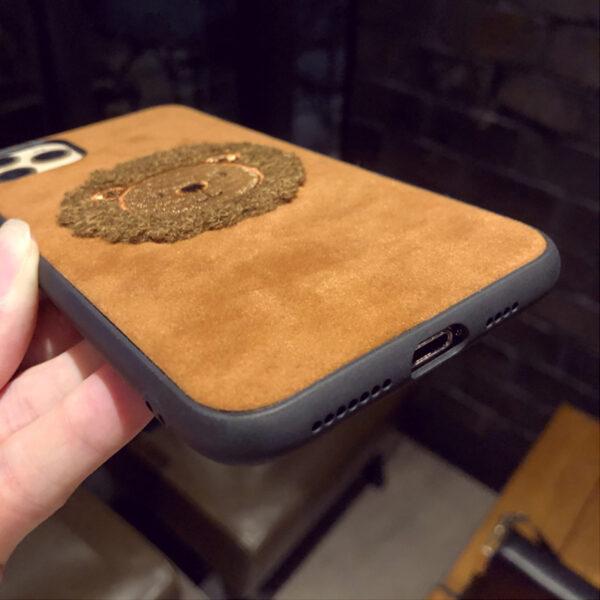 Handmade Plush Lion Case For iPhone 12 11 XS Max 8 7 Plus Case IPS708_6