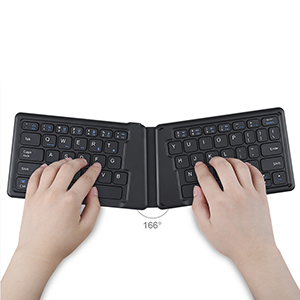 Wireless Bluetooth Foldable Silicone Keyboard For iPad PC Phone PKB05_4