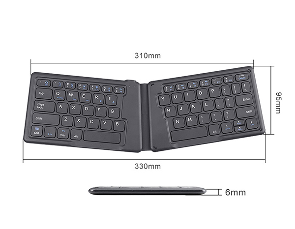 Wireless Bluetooth Foldable Silicone Keyboard For iPad PC Phone PKB05_7