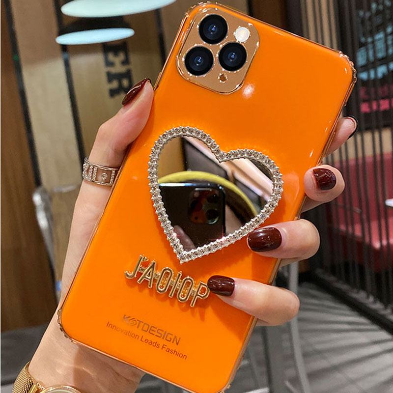 Heart Shaped Case With Mirror For iPhone 11 Pro Max XS Max IPS710
