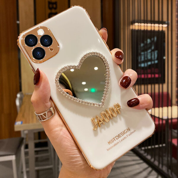 Heart Shaped Case With Mirror For iPhone 11 Pro Max XS Max IPS710_2