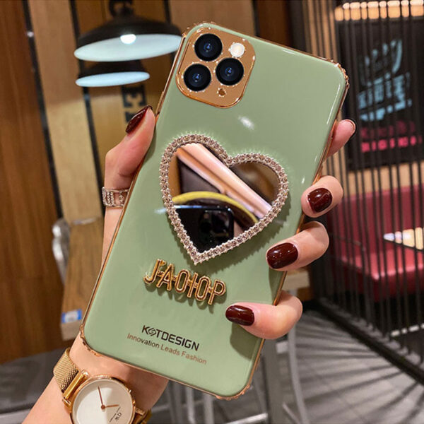 Heart Shaped Case With Mirror For iPhone 11 Pro Max XS Max IPS710_3
