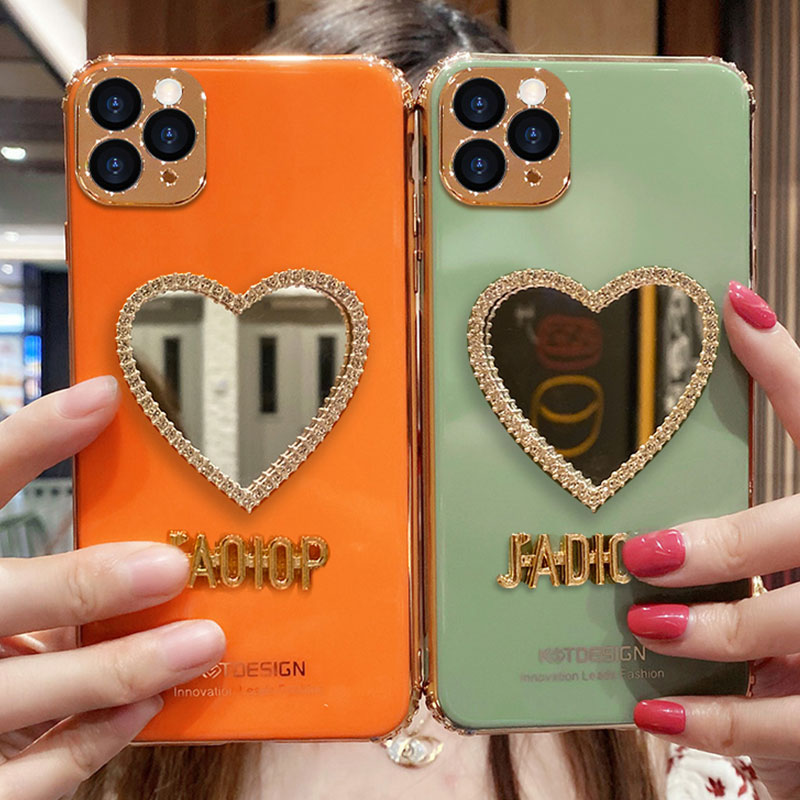 Heart Shaped Case With Mirror For iPhone 11 Pro Max XS Max IPS710_5