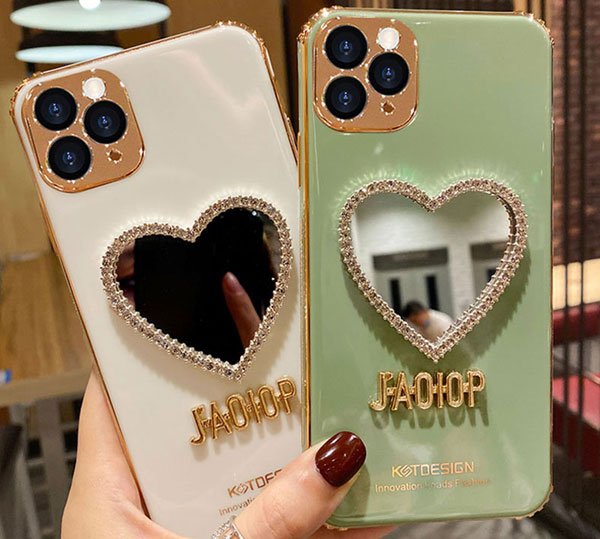 Flower Pattern Silicone Case Cover With Mirror For iPhone 8 7 6 6S Plus IPS710_7