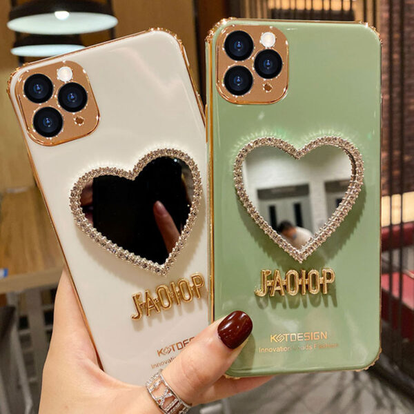 Heart Shaped Case With Mirror For iPhone 11 Pro Max XS Max IPS710_7